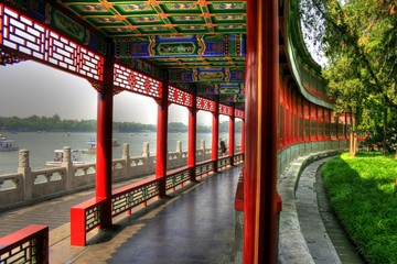 Printed roller blinds Beijing Beihai Park - Classical chinese Garden in Beijing (Peking)