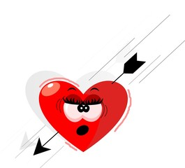 Illustration of Heart and arrow