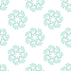 seamless leaf and snail pattern