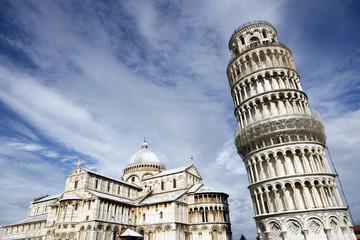 Piazza del Duomo in Pisa famous landmarks (UNESCO)
