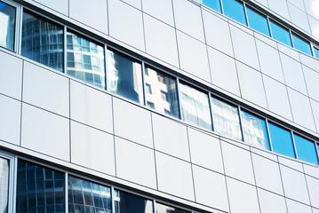 Facade of the modern building