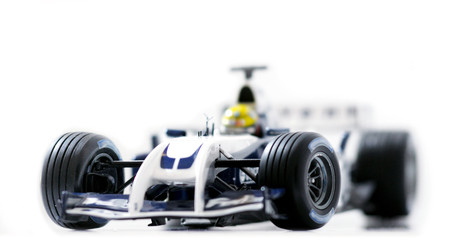 Formula One racing car, front view