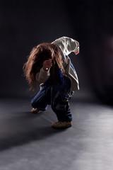 cool dancer against black background