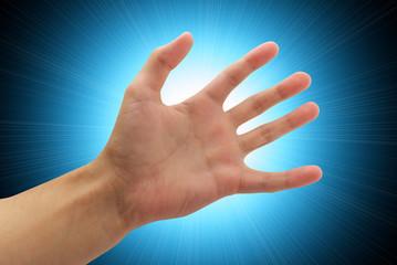 Human palm