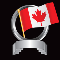 canadian flag silver display