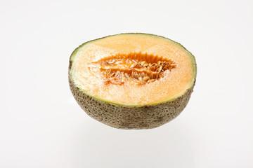 Half of a cantaloupe.