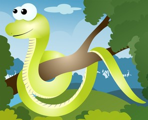 Illustration of a cartoon snake
