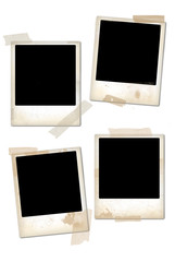 Empty vintage photo frames