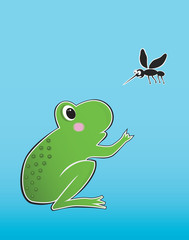 frog and mosquito