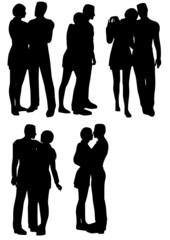 silhouettes de couple