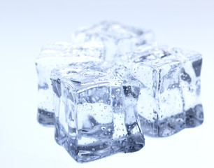 Abstract background with frozen water, ice cubes