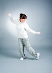 cool looking dancer posing