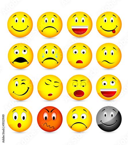 Smileys fichier vectoriel libre de droits sur la banque - Smiley a dessiner ...