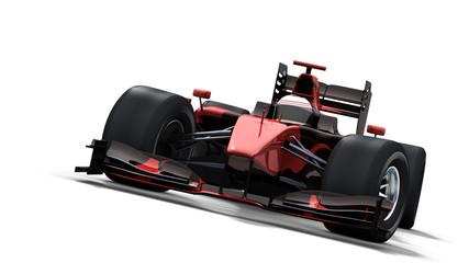 Acrylic Prints F1 race car on white - black & red