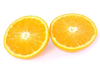 two orange halfs