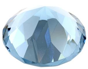 pierre bleue facettes taille diamant fond blanc