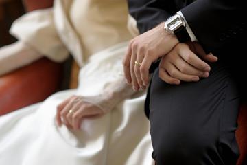 Birde's and groom's hands
