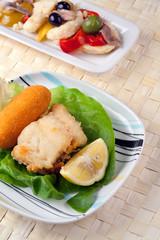 Fried Cob and Rinforzo Salad