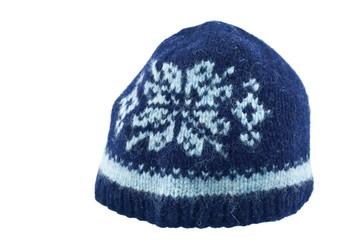 woolen hat on white