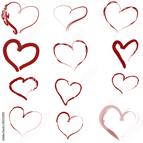 Herzen Vorlage Muster Vektor\