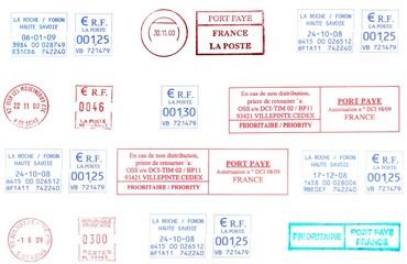 french postmarks background
