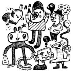 Hand-drawn doodles