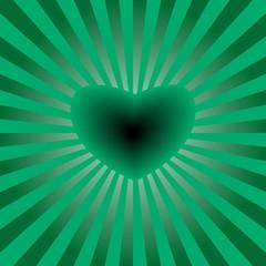 Vector illustration of green heart background