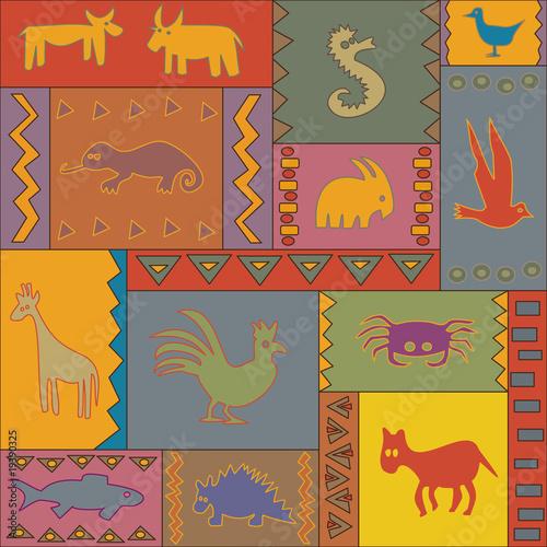 afrika tiere teppich Stockfotos und lizenzfreie Vektoren