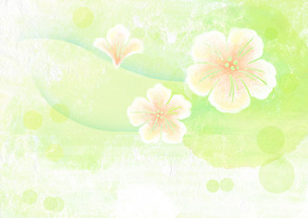 watercolor painting of sakura flower