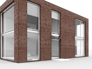 Modern house isolate