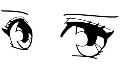 Augen im Mangastil