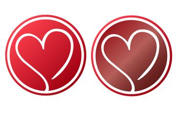 Herz Liebe Knopf