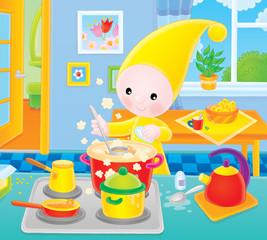 Small gnome - cook