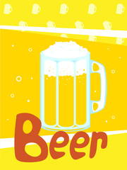 Beer mug vector illustration.