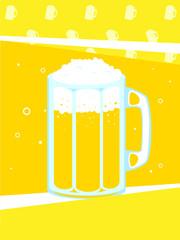 Beer mug vector illustration.