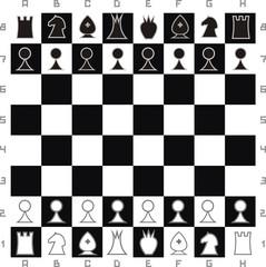 Primitive chess set