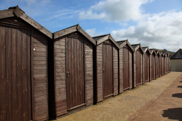 Beach huts in Charmouth, Dorset