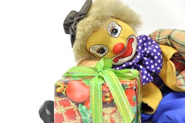 Clown mit Geschenk