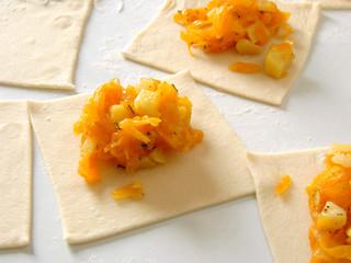 preparing vegetarian dumplings