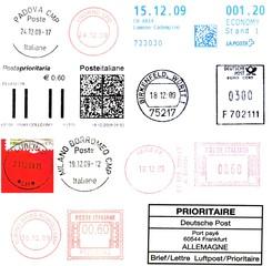 european postmarks, december 2009