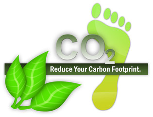 "Illustration ""Reduce Your Carbon Footprint"""