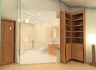 A fashion bathroom in the condo