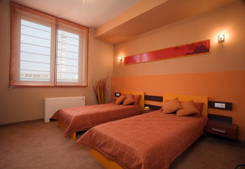 Beautiful and modern bedroom interior design.