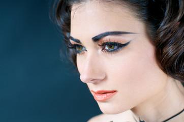 Close up of Beautiful Model