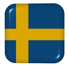 button in colors of Sweden