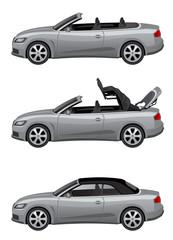 Silver cabriolet