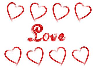 Valentinstags - Grußkarte