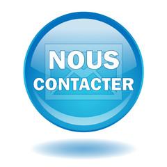Bouton NOUS CONTACTER (Service Clients Aide Rond Bleu Vecteur)