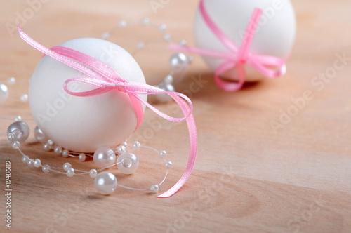 Romantische Ostern Oster Dekoration Stockfotos Und