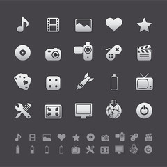 Gray Deluxe Icons -  Multimedia